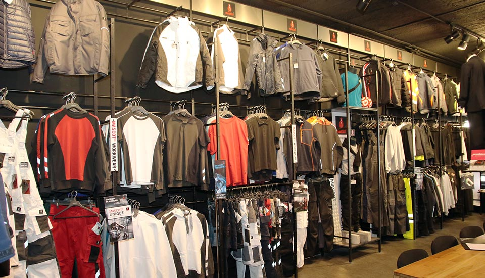 LQA Workwear showroom